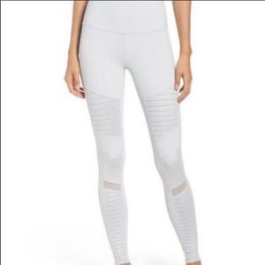 ALO new with tags moto leggings light grey dove